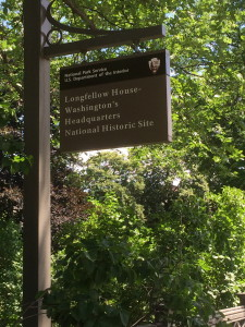 Longfellow House sign